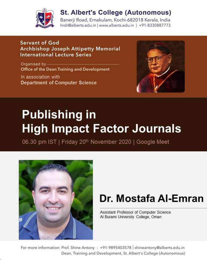 *Servant of God Archbishop Joseph Attipetty Memorial International Lecture Series* on *Publishing in High Impact Factor Journals*